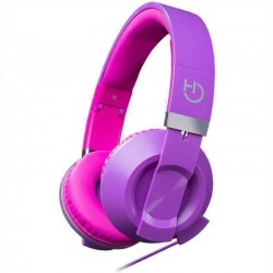 AURICULARES DIADEMA HIDITEC COOL KIDS PURPLE - ALTAVOCES 40MM - 92DB - MICRÓFONO INTEGRADO EN CABLE - CONECTOR 3.5MM - PLEGAB