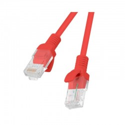 LATIGUILLO DE RED LANBERG PCU6-10CC-0025-R - RJ45 - UTP - CAT 6 - 0.25M - ROJO