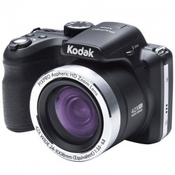CÁMARA DIGITAL KODAK PIXPRO AZ422 NEGRA - 20MPX - LCD 3'/7.62CM - ZOOM 42X OPT - ANGULAR 24MM - VÍDEO HD - USB - BATERÍA LITI