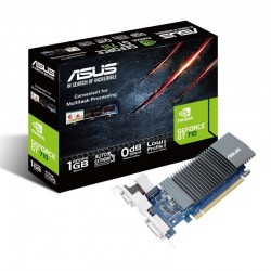 TARJETA GRÁFICA ASUS GEFORCE GT 710 SILENT - OPENGL 4.5 - 1GB GDDR5 - PCI EXPRESS 2.0 - DVI-D - HDMI - VGA - REFRIGERACIÓN PA