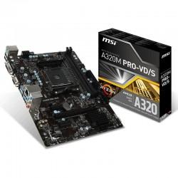 PLACA BASE MSI A320M PRO-VD/S - SOCKET AM4 - CHIPSET AMD A320 - 2*DDR4 - DVI-D/VGA - SOPORTA RAID - MATX