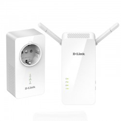 PLC/POWERLINE CON REPETIDOR WIFI D-LINK W611AV AV1000 - 1000MBPS - WIFI AC 1200 MBPS - PLUG AND PLAY - PACK 2 UDS