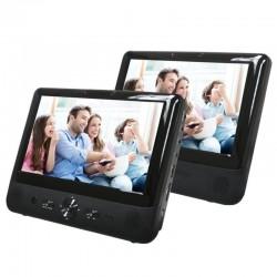 DVD PORTÁTIL CON 2 PANTALLAS DENVER MTW-984 - 9'/22.85CM C/U - LECTOR USB/SD MMC - MANDO A DISTANCIA - SOPORTES PARA REPOSACA