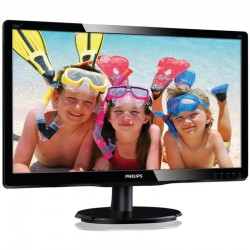 MONITOR LED MULTIMEDIA PHILIPS 226V4LAB 21.5' / 54.61CM FULLHD 1920X1080P 60HZ 5MS 10M:1 250CD/M2 VGA DVI NEGRO