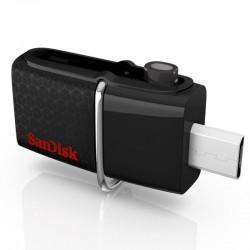 PENDRIVE SANDISK ULTRA DUAL USB DRIVE SDDD2-016G-GAM46 - 16GB - INTERFAZ USB3.0/MICRO-USB - LECTURA 130MB/S - NEGRO