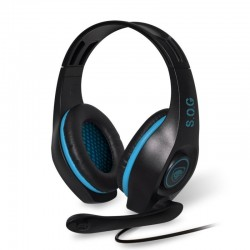 AURICULARES CON MICRÓFONO SPIRIT OF GAMER PRO-H5 BLUE EDITION - DRIVERS 40MM - CONECTOR USB/JACK 3.5MM - COMPATIBLE PC/MAC/PS