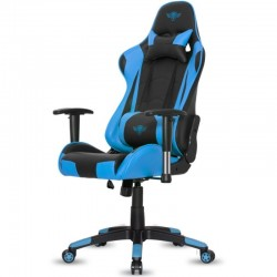 SILLA SPIRIT OF GAMER SIEGE DEMON BLUE - INCLINACIÓN / ALTURA / BRAZOS REGULABLES - 5 RUEDAS 360º - COJÍN LUMBAR Y NUCA - HAS
