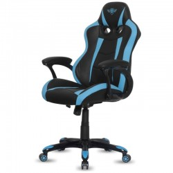 SILLA SPIRIT OF GAMER RACING BLUE - INCLINACIÓN / ALTURA REGULABLES - BRAZOS XL FIJOS - 5 RUEDAS 360º - HASTA 120KG