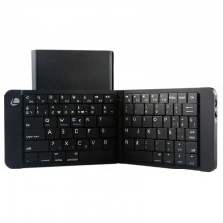 TECLADO MINI BLUETOOTH LEOTEC LERK04K NEGRO - PLEGABLE - 80 TECLAS - BATERÍA 90mAh - ABS Y ALUMINIO - COMPATIBLE WINDOWS / iO