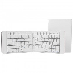 TECLADO MINI BLUETOOTH LEOTEC LERK04W BLANCO - PLEGABLE - 80 TECLAS - BATERÍA 90mAh - ABS Y ALUMINIO - COMPATIBLE WINDOWS / i
