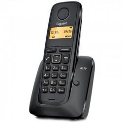TELÉFONO DECT SIEMENS GIGASET A120 - NEGRO - ID. LLAM./ DISP. ILUM. / 50 REG. / ECO DECT / BATERÍAS AAA
