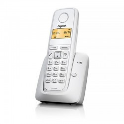 TELÉFONO DECT SIEMENS GIGASET A120 - BLANCO - ID. LLAM./ DISP. ILUM. / 50 REG. / ECO DECT / BATERÍAS AAA