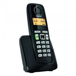 TELÉFONO DECT GIGASET A220 NEGRO - IDENTIFICACIÓN DE LLAMADA - 80 MEMORIAS - PANTALLA ILUMINADA - MANOS LIBRES - 2X BATERÍAS