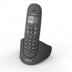 TELÉFONO ANALÓGICO LOGICOM LUNA NEGRO - AGENDA 20 REGISTROS - 7 H DE CONVERSACIÓN - MANOS LIBRES - MEMORIA 20 REGISTROS
