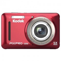 CÁMARA DIGITAL KODAK PIXPRO CZ53 ROJA - 16MPX - LCD 2.7'/6.82CM - ZOOM 5X OPT - ANGULAR 28MM - VÍDEO HD 720P - USB 2.0 - ESTA