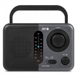 RADIO SPC CHILLY NEGRA - AM/FM - AUX IN - ANTENA TELESCÓPICA - ASA DE SUJECIÓN - ALIMENTACIÓN RED/PILAS