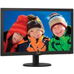 MONITOR LED PHILIPS V-LINE 243V5LHSB - 23.6'/ 59.9CM FULLHD - 1MS - 1000:1 - 250CD/M2 - VGA - DVI-D - HDMI - INCLINACIÓN 5/20