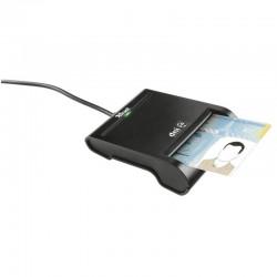LECTOR DE TARJETAS DNI TRUST 21111 - COMPATIBLE CON DNIE Y SMARTCARDS - USB 2.0 - NEGRO