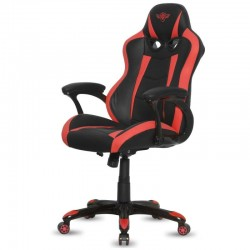 SILLA SPIRIT OF GAMER RACING RED - INCLINACIÓN / ALTURA REGULABLES - BRAZOS XL FIJOS - 5 RUEDAS 360º - HASTA 120KG