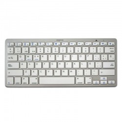 TECLADO UNIVERSAL BLUETOOTH APPROX - PLATA - BT 3.0 - 14 TECLAS MULTIMEDIA - COMPATIBLE WINDOWS / APPLE / ANDROID - DISEÑO CO