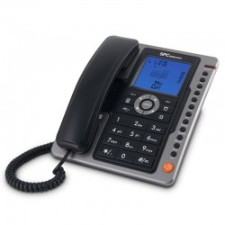 TELÉFONO SOBREMESA SPC TELECOM 3604 NEGRO IDENTIFICADOR DE LLAMADAS 7 REG MANOS LIBRES